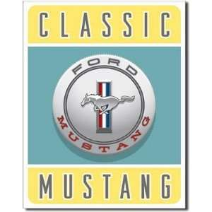 Classic Ford Mustang Car Logo Retro Vintage Tin Sign