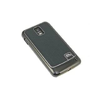 Brushed Aluminum Case Cover for Samsung Galaxy S2 Skyrocket   Black