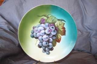 Unmarked China Decorative Plate Charger Bunch Of Grapes