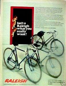 1972 Raleigh Record,Sports Boys, Girls Bicycles Bike AD