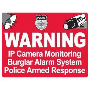 ) Waterproof Security Camera Warning Stickers Decals