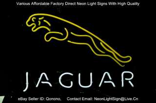 JAGUAR LOGO US AUTO CAR DEALER PUB DISPLAY STORE BEER BAR NEON LIGHT