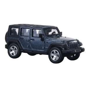 Atlas HO RTR 2007 Jeep Wrangler Unlimited, Steel Blue Toys & Games