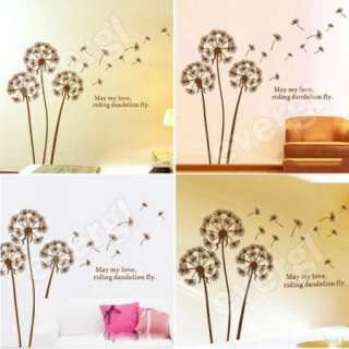 Dandelion Flower Tree in the Wind Wall Sticker Art Mural Wall Decal