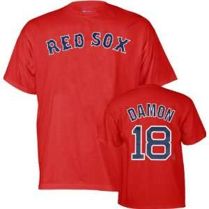 com Johnny Damon Majestic Player Name & Number Boston Red Sox Youth T