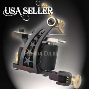 Tattoo Machine Gun Shader or Liner Hand Made Pro Iron 10 Wrap Coil USA