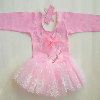 Girl Fairy Leotard Ballet Tutu Dance Party Skate Dress 2 6Y