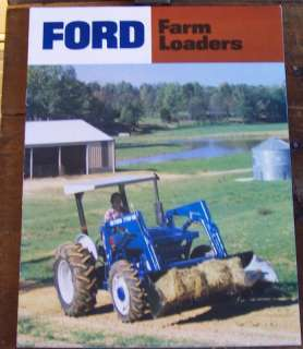 Vintage Ford Tractor Farm Loaders Brochure