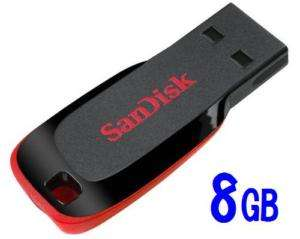 NEW SanDisk 8GB Cruzer Blade USB 2.0 Flash Drive SDCZ50