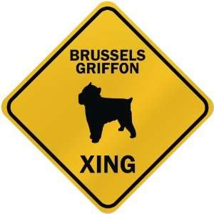 ONLY  BRUSSELS GRIFFON XING  CROSSING SIGN DOG