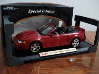Special Edition Red 2003 Ford Mustang SVT Cobra CONVERTIBLE