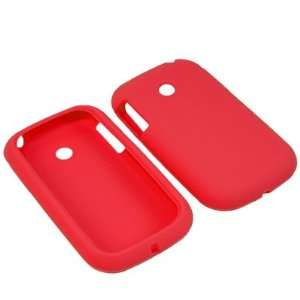 Sleeve Gel Cover Skin Case for AT&T, T Mobile LG Optimus Net P690  Red