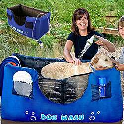Hugs Pet Products Inflatable Blue Dog Wash