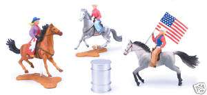 New Ray Pretend Toy Rodeo Barrel Racing Cowgirls Set