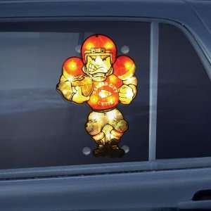 Kansas City Chiefs NFL Two Sided Light Up Car Window Decoration (9