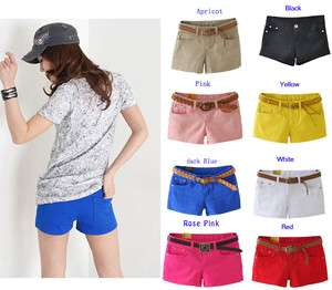 Women Casual Candy Colours Shorts Short Jeans low waisted 11 colors