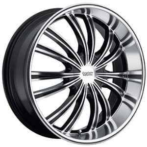 Cruiser Alloy Shadow 22x9.5 Machined Black Wheel / Rim 5x115 & 5x5