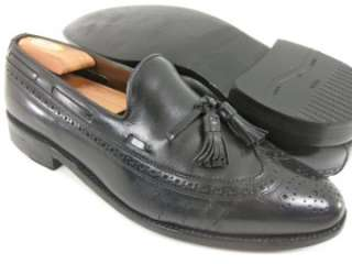 Allen Edmonds MANCHESTER Black Wingtip Dress Shoes Tassel Loafers 9.5