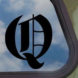 LETTER Q Black Decal Truck Bumper Window Vinyl Sticker