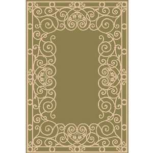 Trans Ocean 2818/16 Tropez Wrought Iron Green Indoor / Outdoor Rug