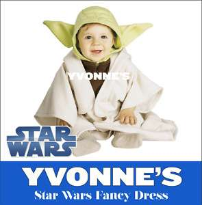 Star Wars Yoda Jedi Master Infant Toddler Babies Childrens Fancy Dress