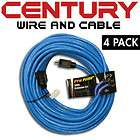 100 12/3AWG SJTW Pro Heavy Duty Power Extension Cord, Blue 4 Pack