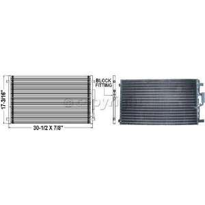 A/C CONDENSER chrysler TOWN & COUNTRY VAN 01 04 dodge
