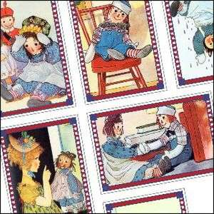 RAGGEDY ANN and ANDY Fridge Magnets Set 6 DIFF