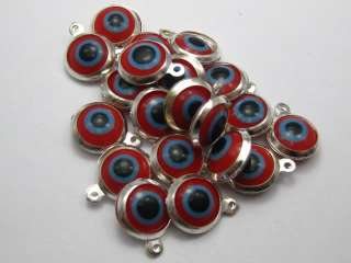 50 Red EVIL EYE Charm Kabbalah Good Luck Pendant