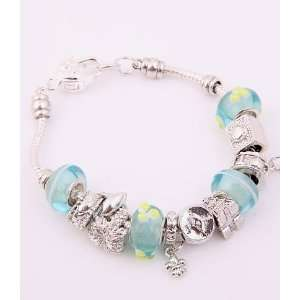 Fashion Jewelry Desinger Murano Glass Bead Bracelet Light