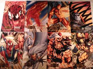 Marvel Metal Prints trading cards lot of 8 + poster 6x10 IronMan