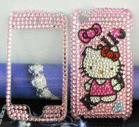 HELLO KITTY CAT pink Crystal handicraft FULL Case fits Apple iPod