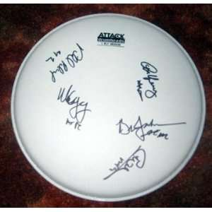 AC/DC Autographed SIGNED Drumhead *PROOF