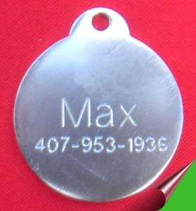 Engraved Pet Tags for Dog and cats Custom, Personalized