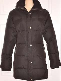 MICHAEL KORS Womens Down Coat Jacket BROWN Size New L
