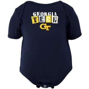 Tech Yellow Jackets Infant Navy Blue ABCs Creeper