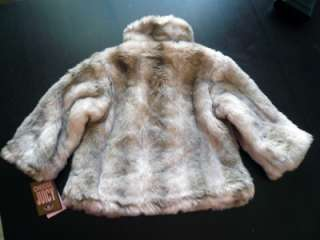 Authentic Juicy Couture Baby Girl Blonde Faux Fur Jacket Coat Size 18M