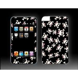 iPod Touch 3G Girl Skulls Pink Bow Vinyl Skin kit decal cover Skins
