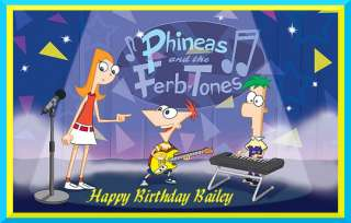 Phineas and Ferb edible cake image topper  1/4 sheet