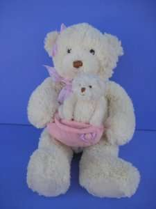 BEAR MAMA W BABY Plush GUND 46520 Soft Stuffed Animal Lovey