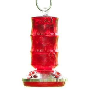 Bird Brains Bamboo Hummingbird Feeder, Red