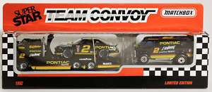 Matchbox TC 064 Rusty Wallace Pontiac Team Convoy MIB 3 Piece Set