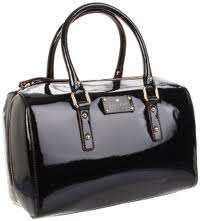 Kate Spade NY Flicker Melinda Classic Black Patent Leather Satchel New