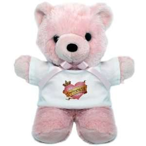 Teddy Bear Pink Princess Crowned Pink Heart Everything