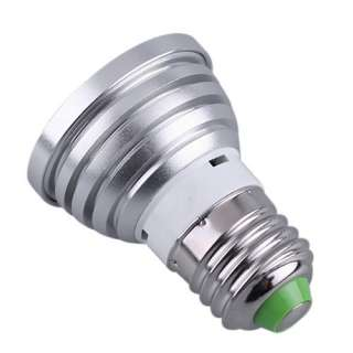 Changing RGB LED Light Bulb Lamp+ IR Remote Control AC90 240 3W E27