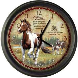 American Expeditions Wall Clock Paint Horse