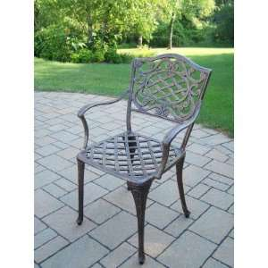 Oakland Living Mississippi Cast Aluminum Semi Welded Arm Chair Pack of