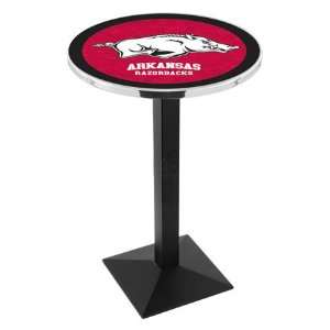 42 University of Arkansas Bar Height Pub Table   Square