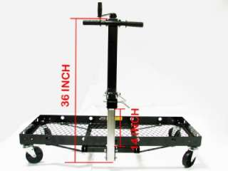 HITCH MOUNTED CARGO CARRIER WITH WHEELS & TRAILER JACK