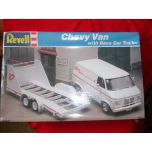 REVELL CHEVY VAN W/RACE CAR TRAILER Toys & Games